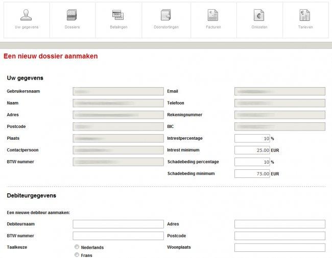 Intern Ontwikkelde Incasso Software • CrediSolv